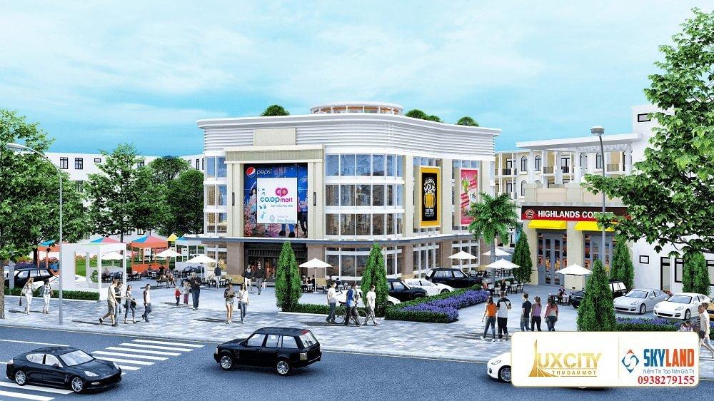 Trung tâm thương mại ngay bên trong dự án.