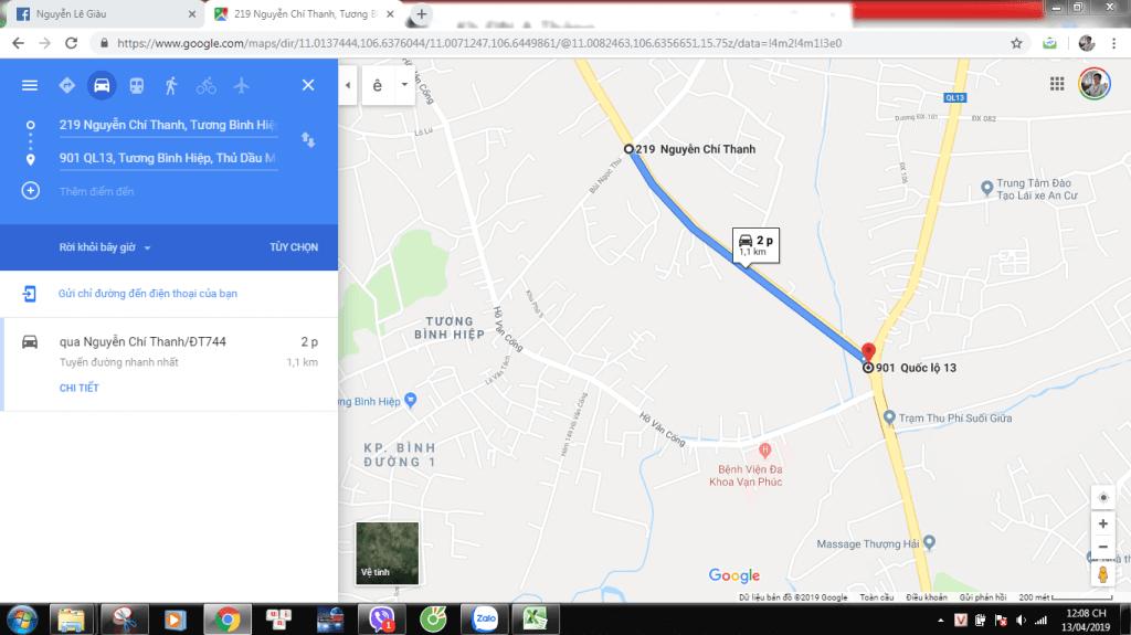 Từ dự án trên đường Nguyễn Chí Thanh ra QL 13 chỉ 1,1km.