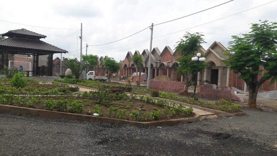 Khu công viên cây xanh của nhà ở xã hội Tiến Hưng - TP Đồng Xoài