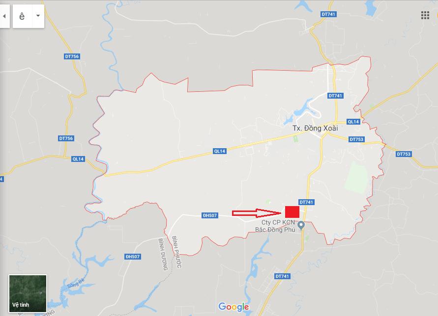 Vị trí địa lý của Suview Đồng Xoài