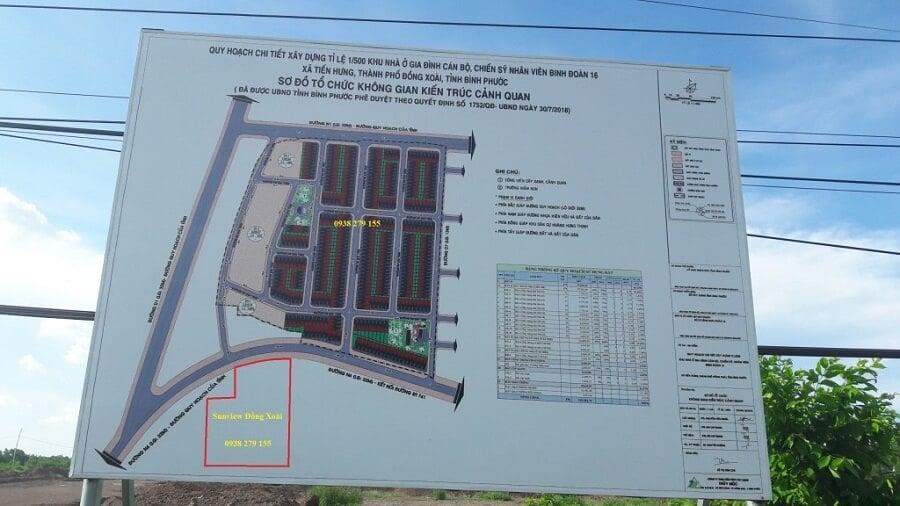 unview Đồng Xoài đối diện khu nhà ở sĩ quan quân đội Binh Đoàn 16.