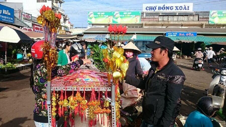 Hình ảnh chợ đồng xoài.