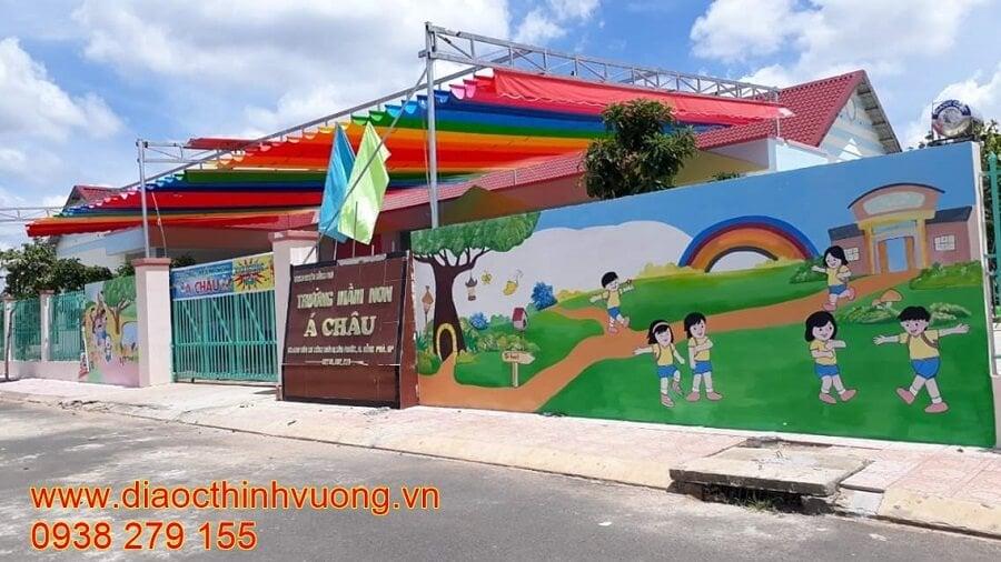 Trường mầm non Á Châu cũng đã hoàn thiện bên trong dự án.