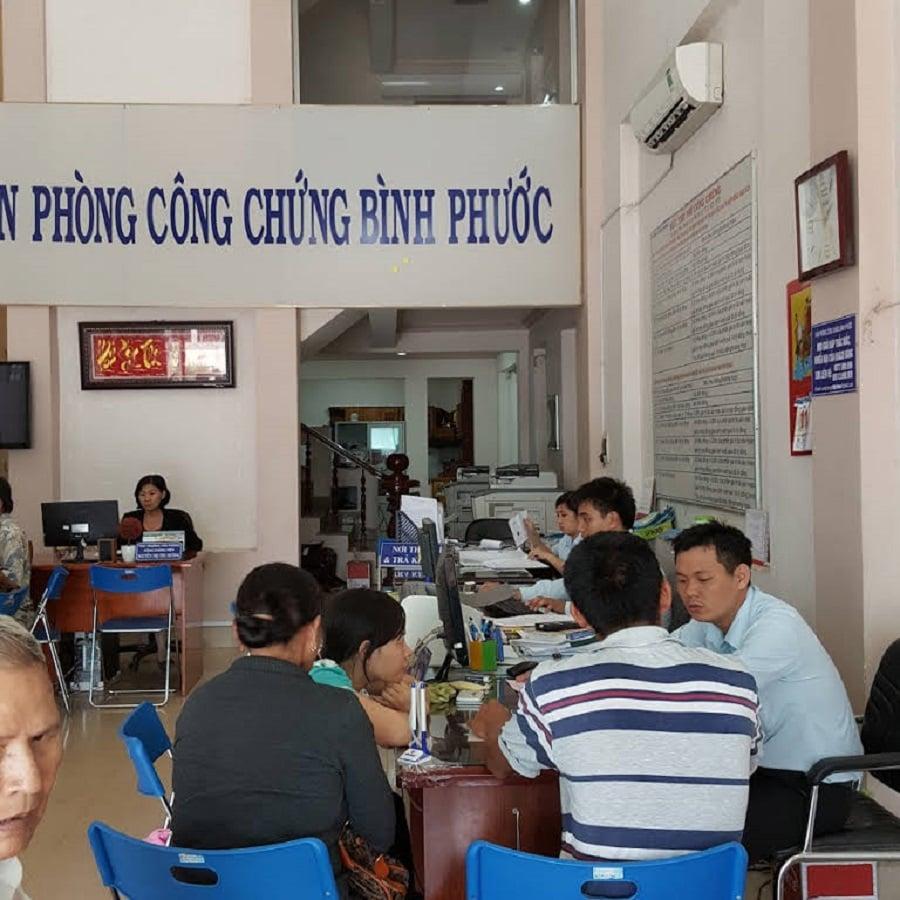 Dự án Sunview Central, công chứng nhận sổ tại phòng công chứng 15