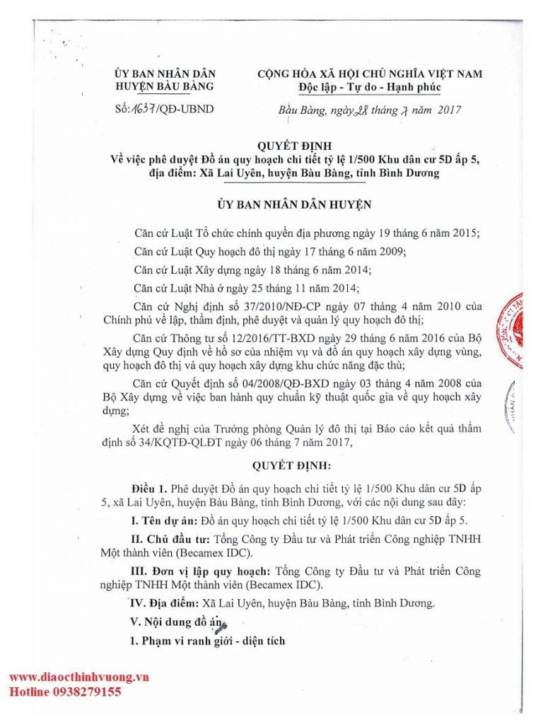 Pháp lý Khu đô thị Bàu Bàng và những vấn đề liên quan 1
