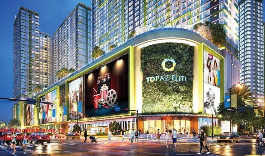 Đẳng cấp với 6 tầng thương mại hơn 60.000 m2 sàn thương mại