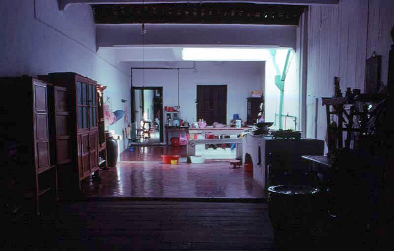 Sân trong Shophouse tại Melaka, Malaysia năm 1990