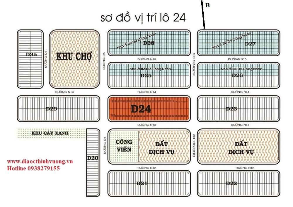 Sơ đồ lô D24 trong phân khu 5D