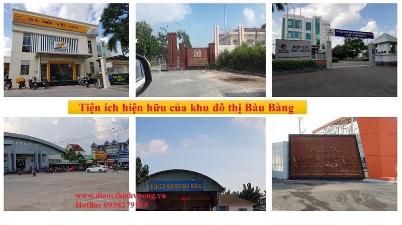 Tiện ích hiện hữu trong khu đô thị Bàu Bàng