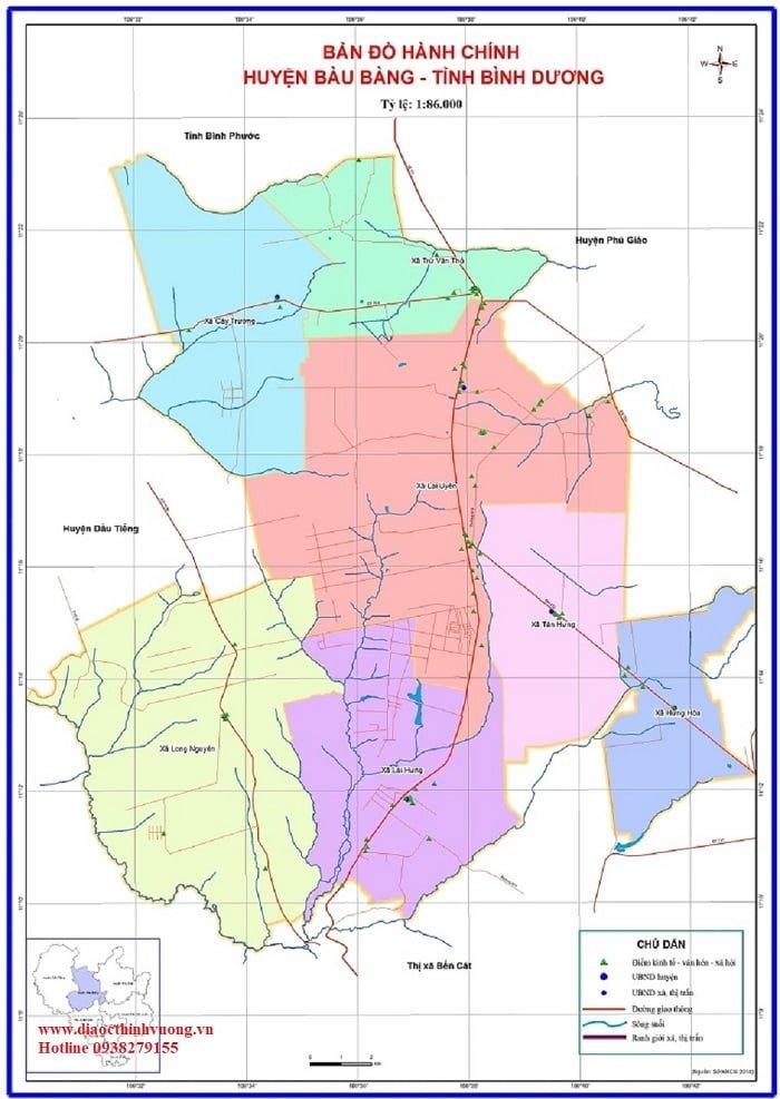Vị trí huyện Bàu Bàng tỉnh Bình Dương