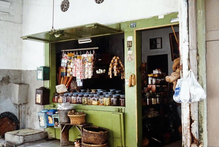 Một Shophouse ở Khu phố tàu, Semarang năm 1991