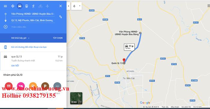 Vị trí khu công nghiệp Bàu Bàng