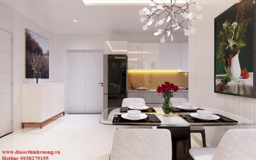 Khu bàn ăn và bếp trong căn hộ Citrine Apartment