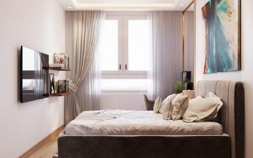 Phòng ngủ lớn có cửa sổ rộng giúp căn phòng thêm sự thoáng mát, thư giản