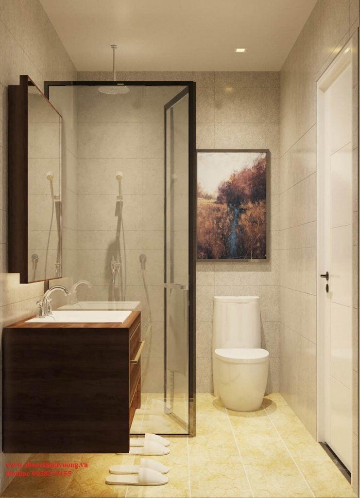 Nhà vệ sinh và phòng tắm tại căn hộ Citrine Apartment