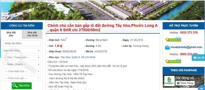 Hướng dẫn chọn web đăng tin bán nhà miễn phí