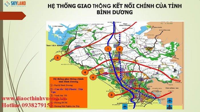 Bàu Bàng được hưởng lợi từ hệ thống giao thông thuận tiện của Bình Dương