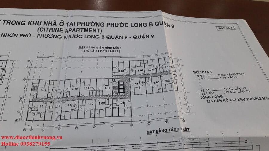 Mã căn hộ sau khi nhận nhà sẽ theo quyết định của cơ quan chính quyền tại Quận 9
