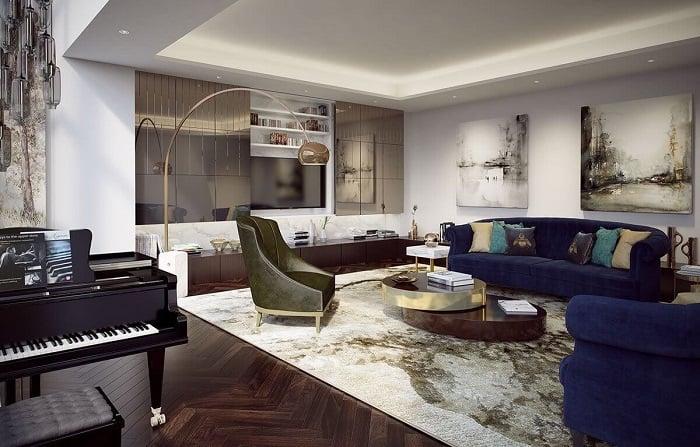 Nội thất bên trong một căn hộ Penthouse