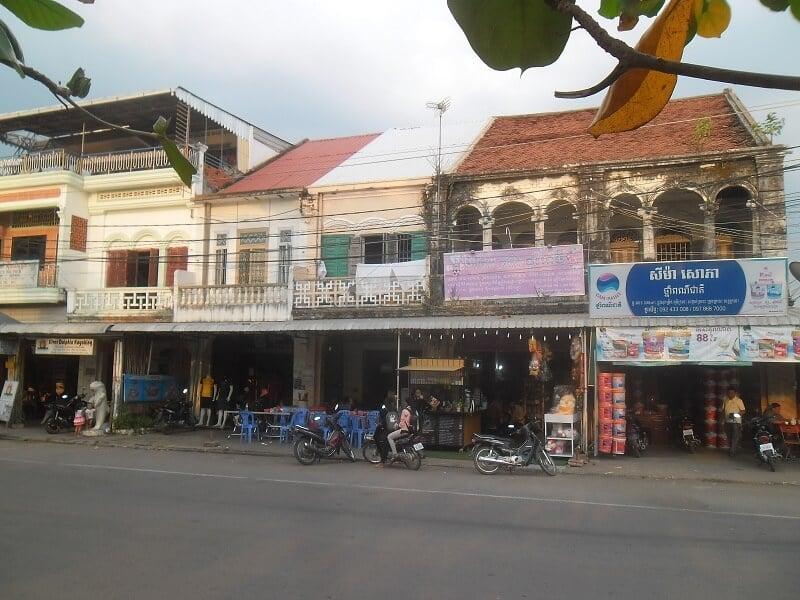 Mặt tiền Shophouse ở Campuchia