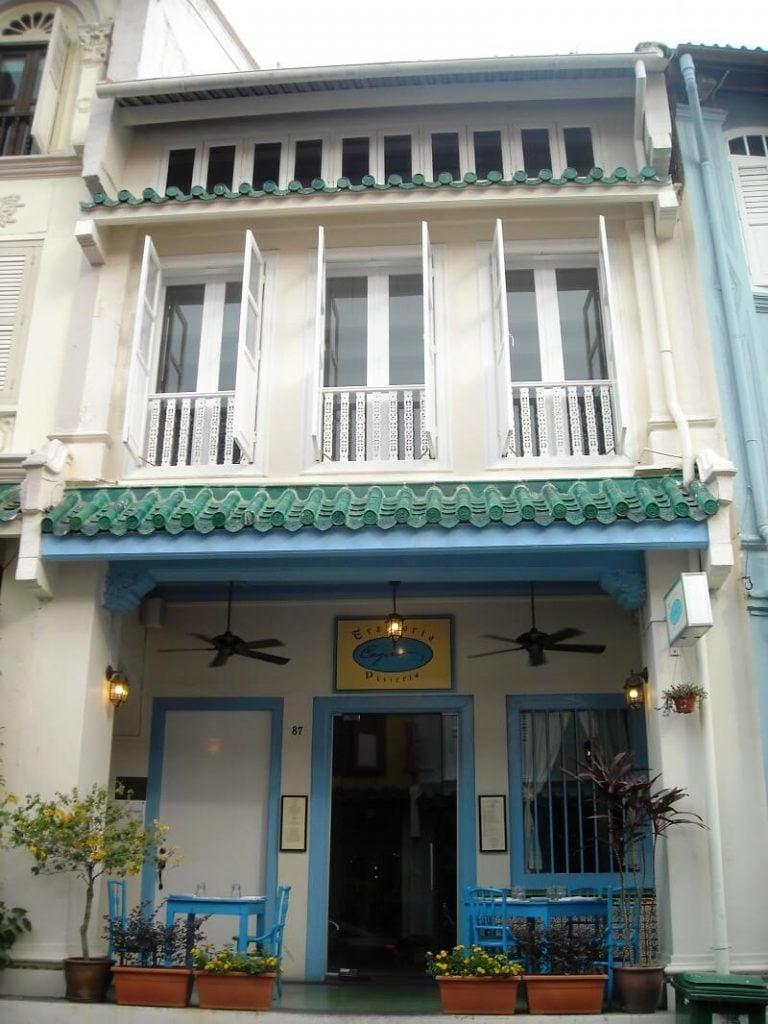 Mặt tiền Shophouse ở Singapore