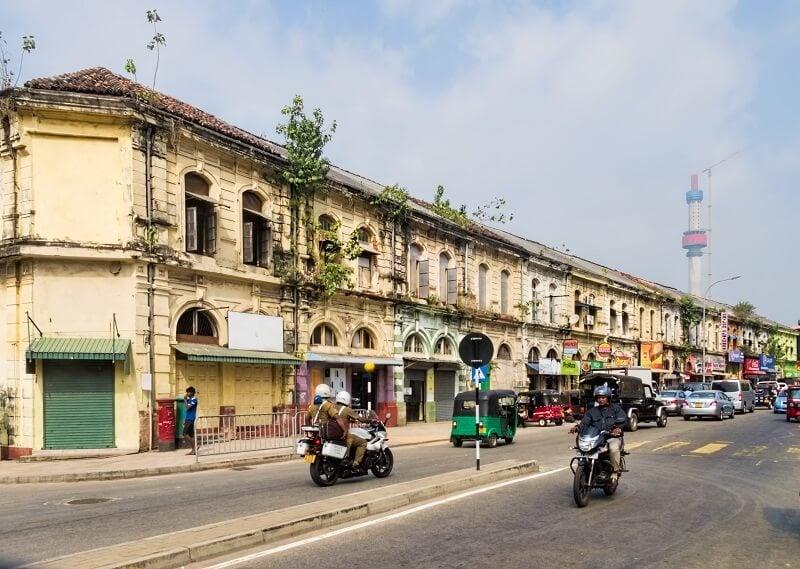 Mặt tiền Shophouse ở Sri Lanka