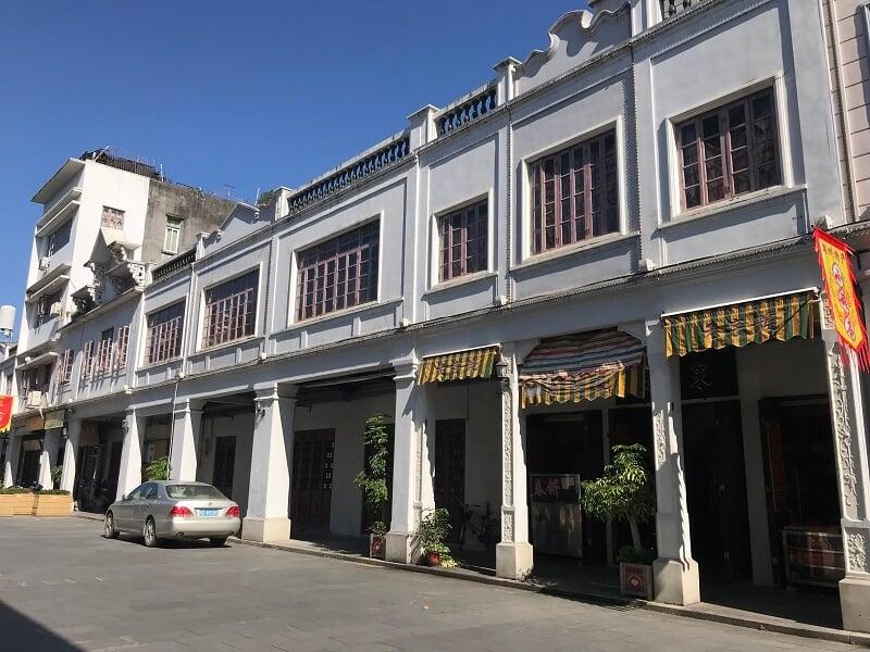 Mặt tiền Shophouse ở Trung Quốc