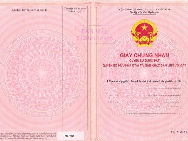 Sổ hồng là giấy chứng nhận quyền sử dụng đất