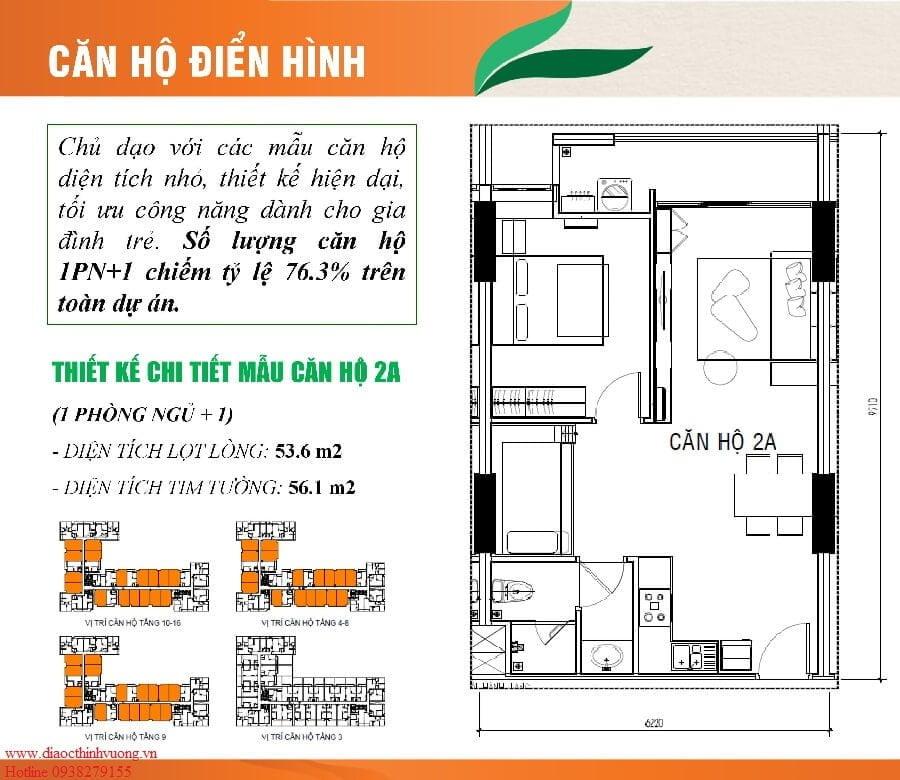 Thiết kế căn hộ 1+1 PN tại Ricca Quận 9