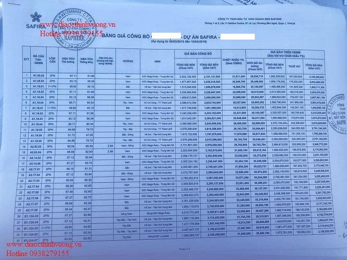 Giá dự án quận 9_Safira Khang Điền