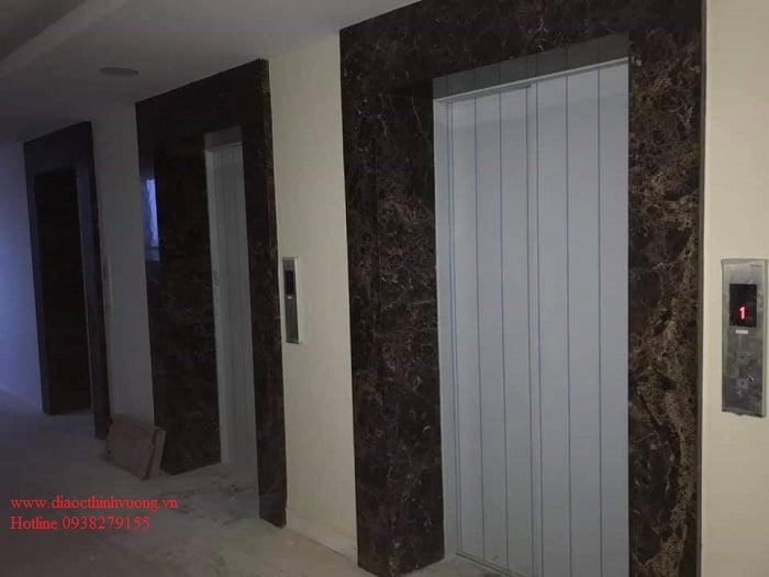 Sảnh thang máy căn hộ Citrine Apartment đang hoàn thiện