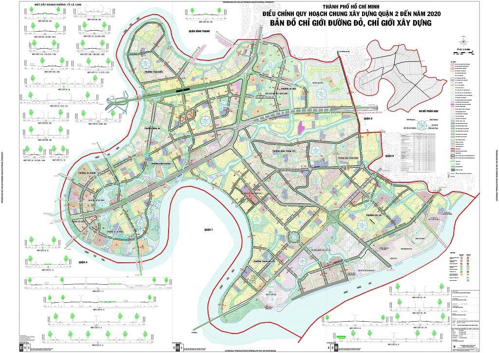 Bản đồ Quận 2 | Tổng hợp các loại 7