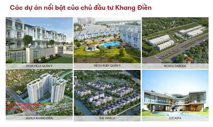 Các dự án chủ đầu tư Khang Điền đã triển khai điển hình