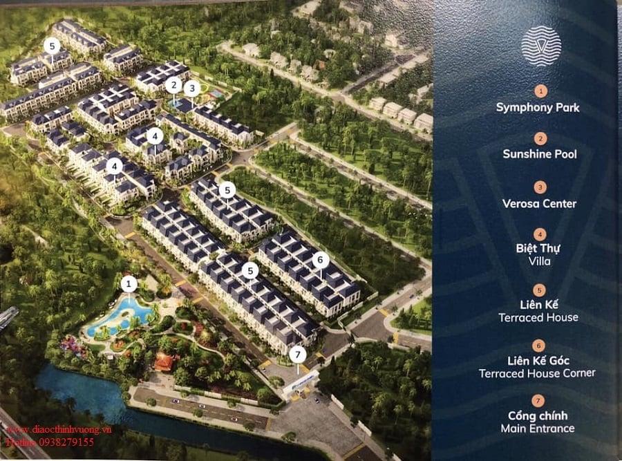 Sơ đồ phân khu của dự án Verosa Park