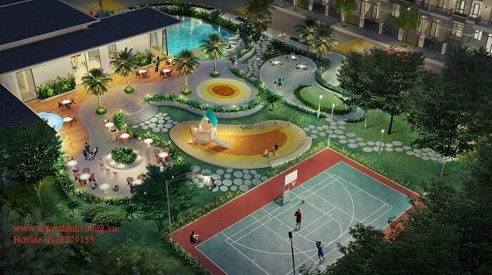 Khu thể thao và vui chơi trẻ em tại Verosa Khang Điền.