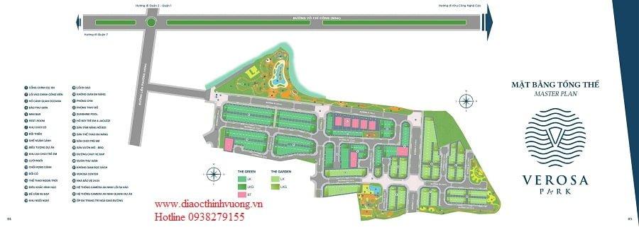 Mặt bằng tổng thể dự án Verosa Park