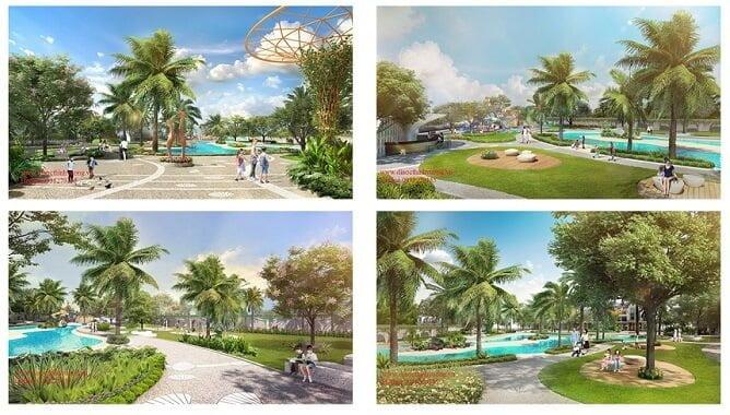 Dự án Verosa Park như một công viên thu nhỏ với đầy đủ tiện ích.