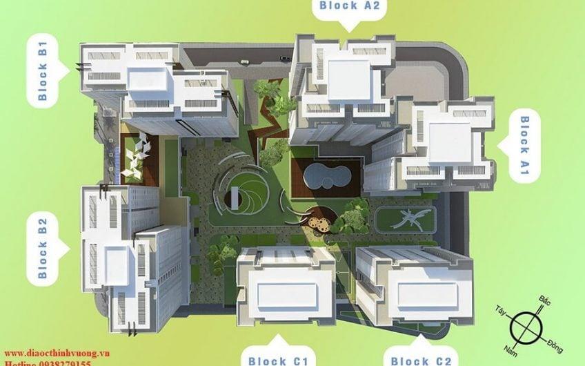 Sơ đồ bố trí các block của căn hộ Topaz City