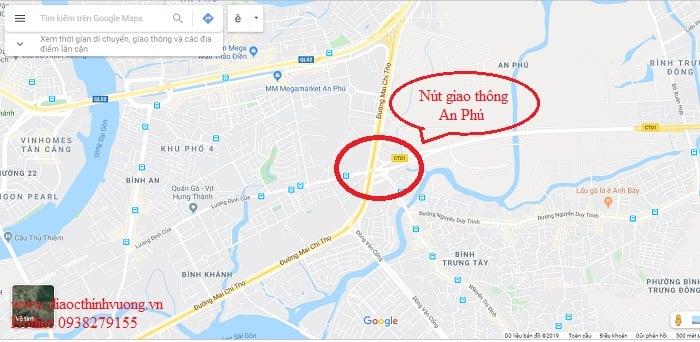 Vị trí nút giao thông An Phú, Quận 2