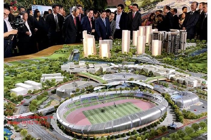 Những sân vận động khổng lồ sẽ là nơi thu hút các chuyên gia về Quận 2