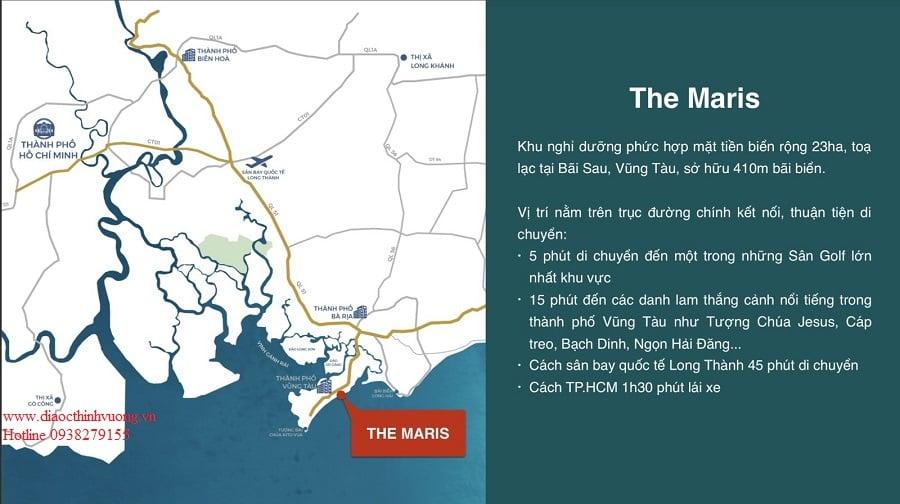 The Maris Vũng Tàu ngay sở hữu bờ biển đẹp vô cùng tự nhiên.