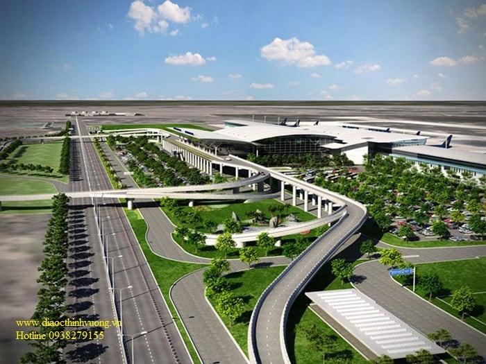 Các đường dẫn vào nhà ga của sân bay Long Thành