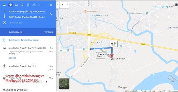 Vị trí căn hộ Ricca cách vòng xoay Phú Hữu chỉ 3 phút