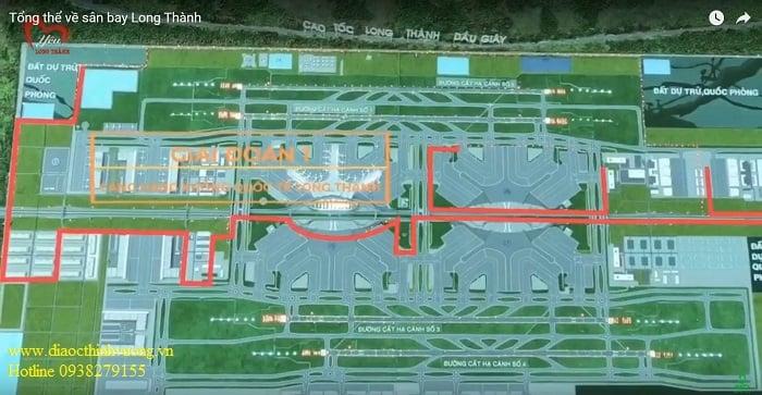 Mặt bằng sân bay Long Thành