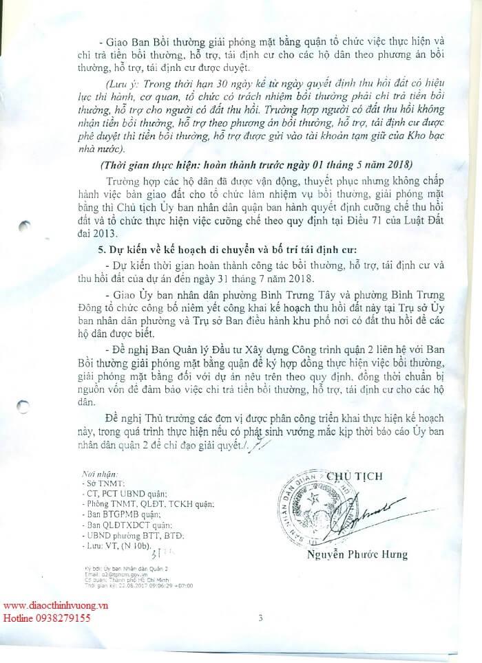 Mở rộng đường Nguyễn Duy Trịnh đoạn Quận 2