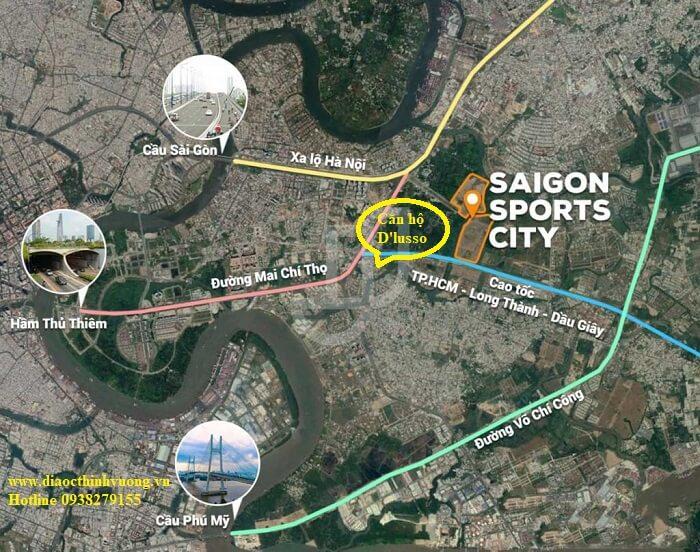 Căn hộ Dlusso cạnh khu Saigon Sport City đã khởi công
