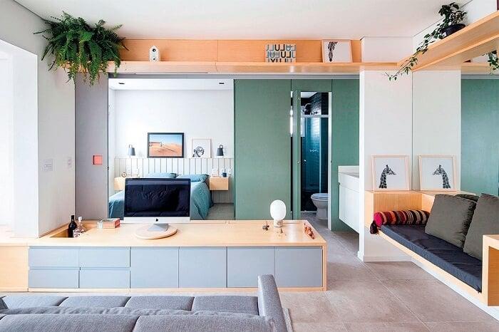Với diện tích nhỏ và sự thông thoáng giữa các phòng, căn hộ studio rất thuận lợi trong việc dọn dẹp