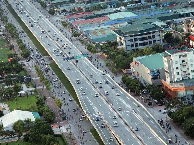 Chỉ giới đường đỏ là ranh giới phân chia phần đất được cho phép xây dựng và không cho phép xây dựng