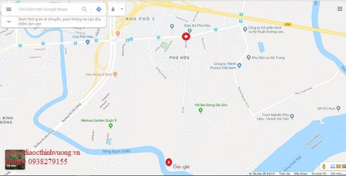 Điểm đầu và cuối đường Gò Cát Quận 9