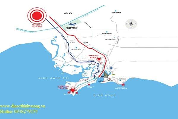 Toàn tuyến của Cao tốc Biên Hòa - Vũng Tàu dài 77,8 km